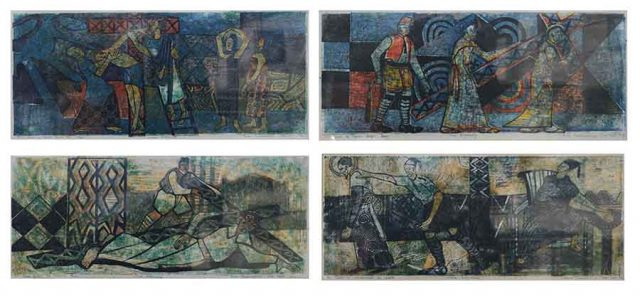 Stations of the cross  (Set of 14 Linoprints)
