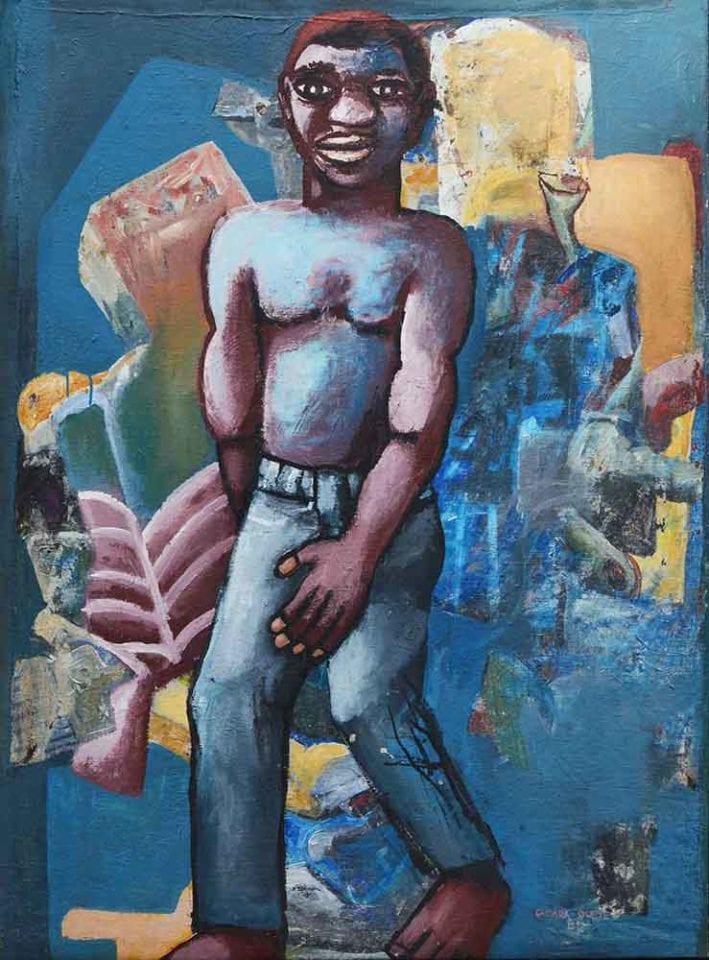 Boy on a blue background